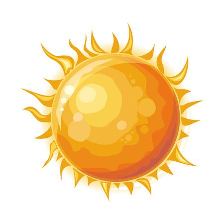 Zon geïsoleerd. Ster in het centrum van het zonnestelsel. Stock Illustratie