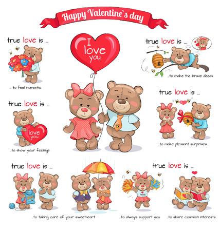 Two Teddy Bears Celebrate Happy Valentine s Day