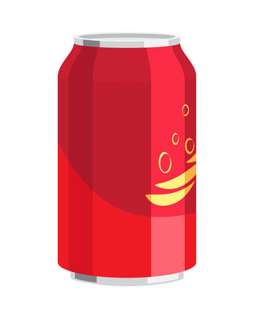 Steel Can of Drink. Celebration of any Holiday. Illusztráció