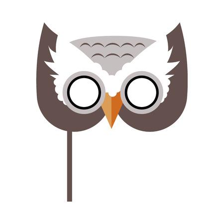 Owl Bird Carnival Mask Childish Masquerade Element