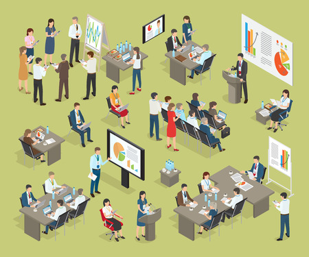 Business Coaching Vector Collection in Office