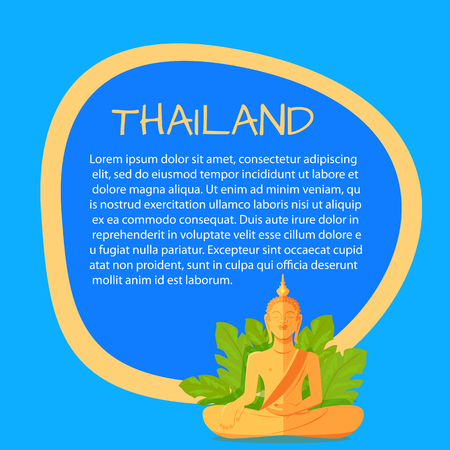 Thailand Vector Touristic Banner with Sample Text