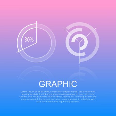 Grafische ronde diagrammen met en zonder percentages