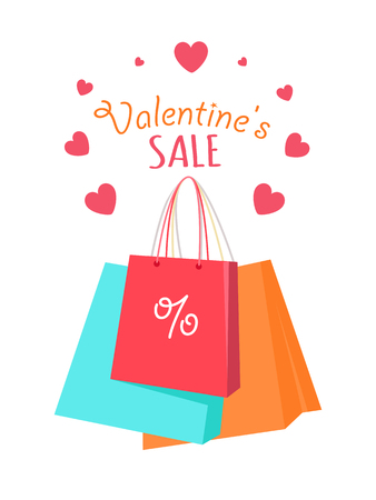 Valentine s Sale Vector Vector Flat Style Concept