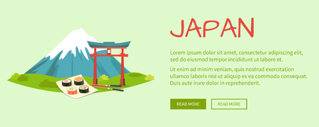 torii: Japan Vector Illustration with Text and Signs
