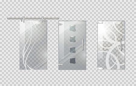 doorhandle: Glass Door Collection on Transparent Background