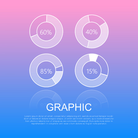Round Graphics Template Design with Info Text Illustration
