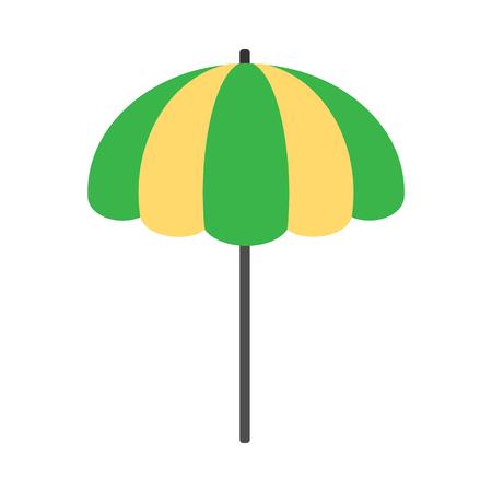 Strand-Regenschirm-Symbol Standard-Bild - 74015040