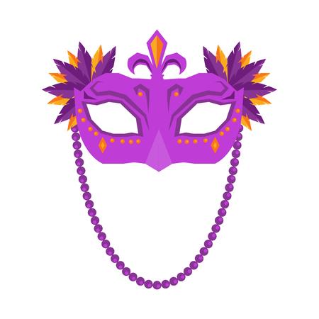 Mardi Gras Mask Isolated on White Background.