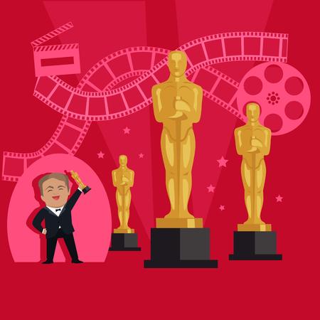 Film Awards Design Flat Banner Concept