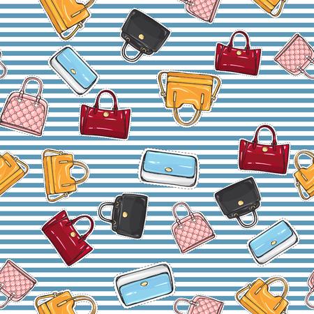 Set of Different Women Handbags. Endless Texture