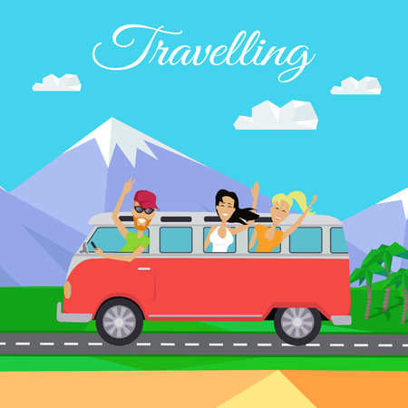 minibus: People Traveling by Minibus