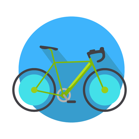 Bicycle Icon Design Flat Isolated. Bike Web Button