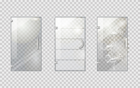 Glass Door Collection on Transparent Background