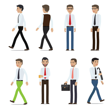 Businessmen Cartoon Characters Vector Collection