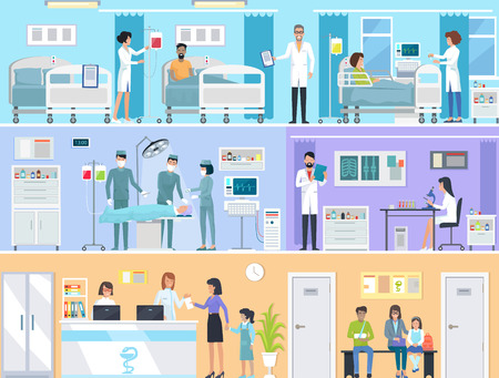 Horizontal Set of Medical Services in Hospital