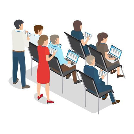 People with Laptop and Tablet on Business Coaching