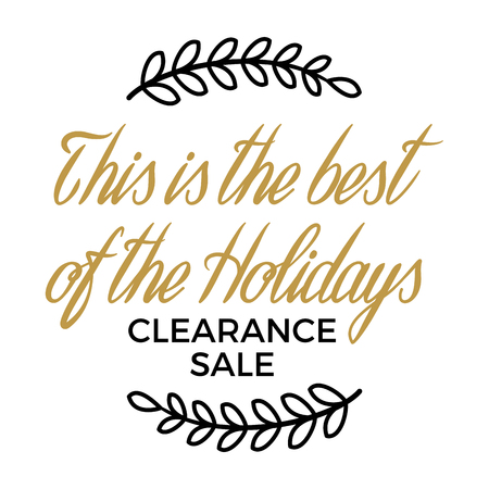 Best of holidays. Clearance sale winter discount Illustration