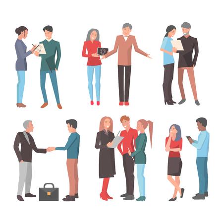 Startup Teams. Big Set of Isolated Illustrations Иллюстрация