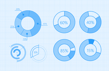 Set of Vector Diagrams for Business Infographics