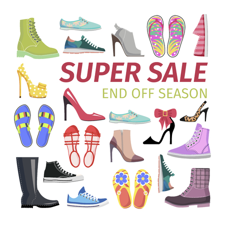 Super Sale. End off Season. Big Shoes Collection