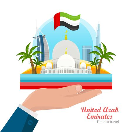 impression: United Arab Emirates Flat Style Vector Concept