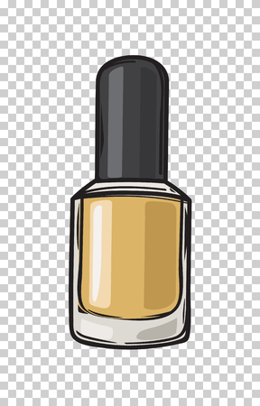 Fashioable Gold Nail Larn Isolated Illustration Stock Illustratie