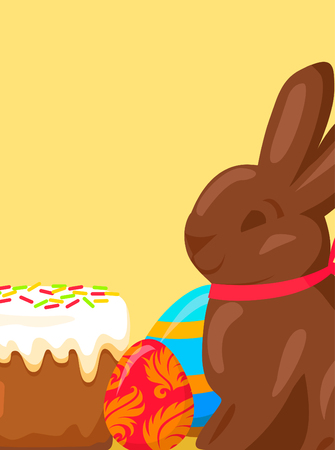 paskha: Easter Festive Concept with Traditional.