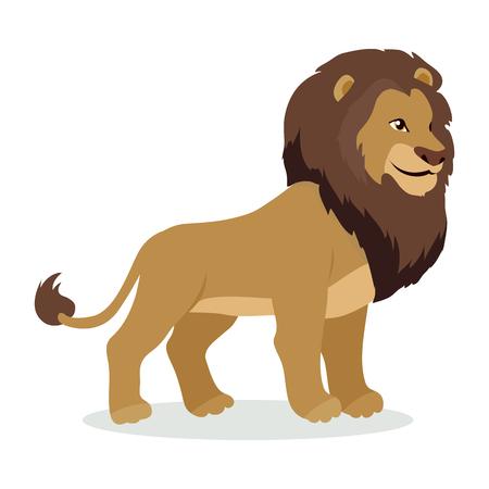 ライオン漫画フラット スタイルのデザインのアイコン