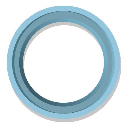 単純な青ラウンド フレーム分離の図  イラスト・ベクター素材