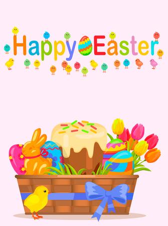 paskha: Happy Easter Vector Flyer or Concept