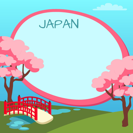 Copyspace と日本観光ベクトル概念  イラスト・ベクター素材