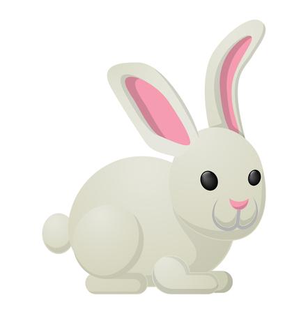 White Rabbit Bunny Sweetness Holiday Mascot