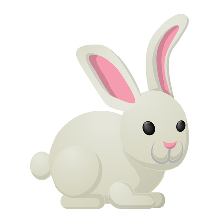 White Rabbit Bunny Sweetness Holiday Mascot
