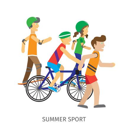 Summer Sport. Children Going in for Sport