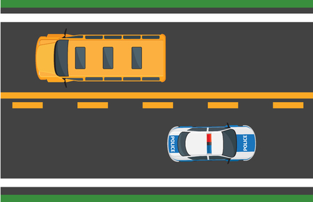 City Traffic Vector Concept with Cars on Highway Иллюстрация