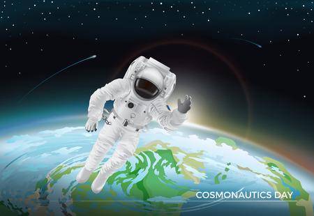 Festive Card for Cosmonautics Day Graphic Design