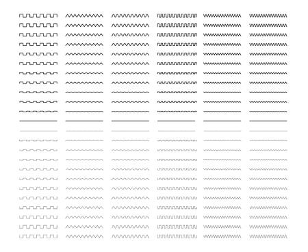 Grandes líneas establecidas aisladas en blanco. Marcadores reales Foto de archivo - 78840224