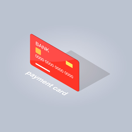 Plastic Detailed Payment Card Cartoon Style Flat
