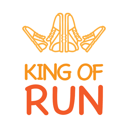 King of Run Motto with Logo Crown from Sneakers