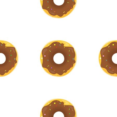 Donut Seamless Background Texture Pattern Illustration