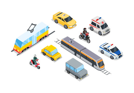 Public Transportation. Traffic Items Collection.