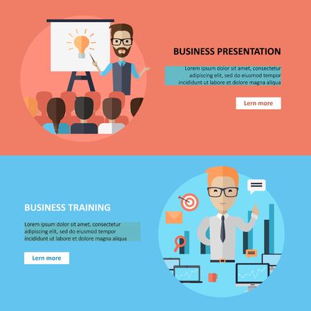 ビジネスのプレゼンテーションやバナーをトレーニングします。