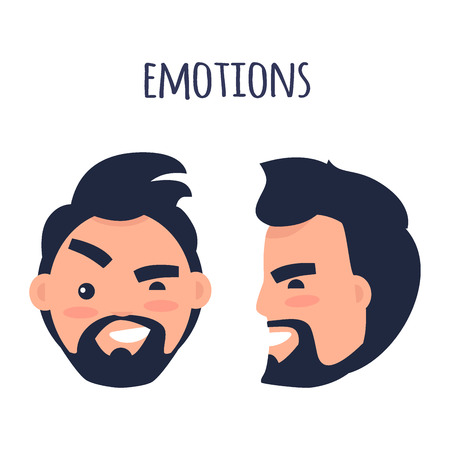 Emotions. Face from Different Angles Illustration