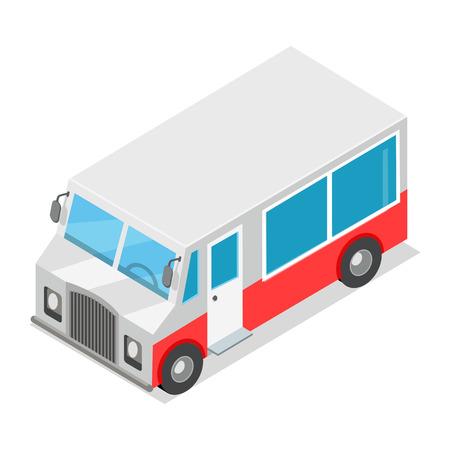 Big Wagon with Streetfood Isolated Illustration