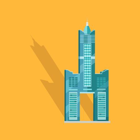 Sky Tower Skyscraper Tanteks in Taiwan Graphic Illustration