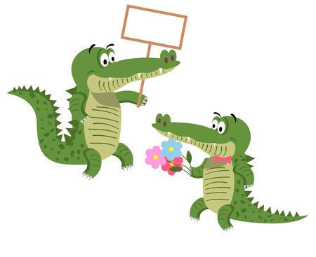 brow: Friendly Cartoon Crocodiles Illustrations Set