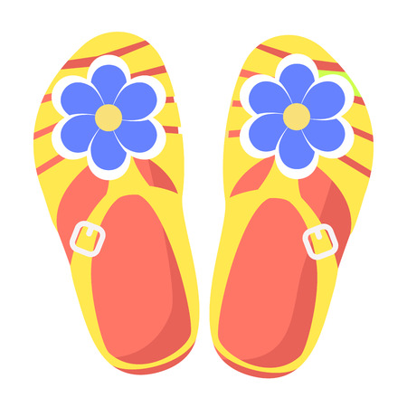 Bright Comfortable Slippers Isolated Illustration Ilustrace