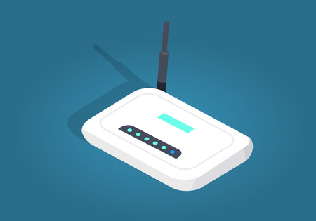 White Realisti Wireless Wi-fi Router with Antenna