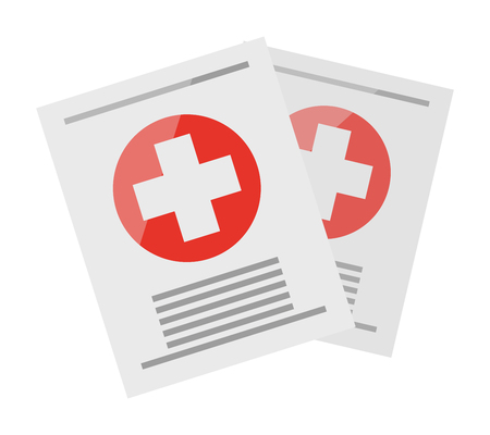 Two Sheets with Medical Information Illustration Çizim